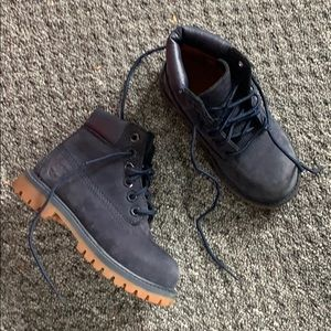 Toddlers Navy Timberland Boots